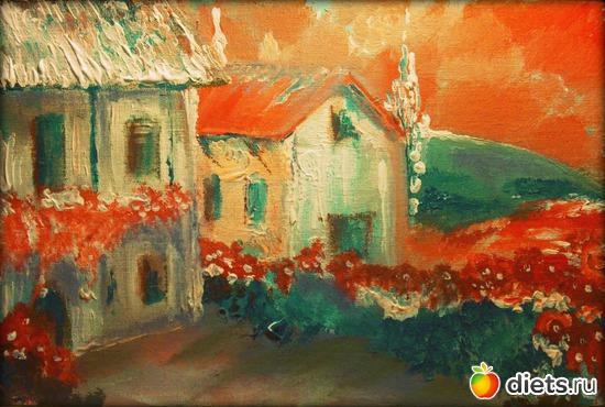 «*Прованс*, пастель, акрил, грунтованный картон, А4», альбом: Вернисаж картин Дарьи Тундры  (Дарья Калита)