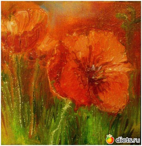 *Маки*, продано - возможен повтор, альбом: Вернисаж картин Дарьи Тундры  (Дарья Калита)