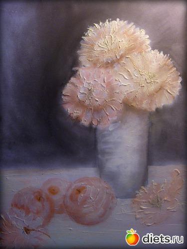 *Хризантемы* продано - возможен повтор, альбом: Вернисаж картин Дарьи Тундры  (Дарья Калита)