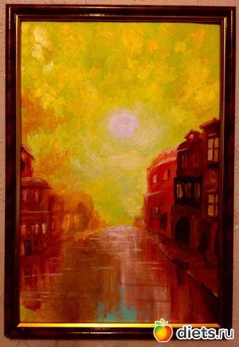 *Речной город*, продано - возможен повтор, альбом: Вернисаж картин Дарьи Тундры  (Дарья Калита)