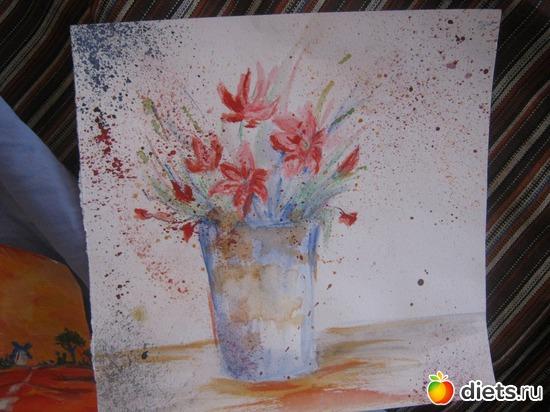 *Стакан*, акварель, бумага, альбом: Вернисаж картин Дарьи Тундры  (Дарья Калита)