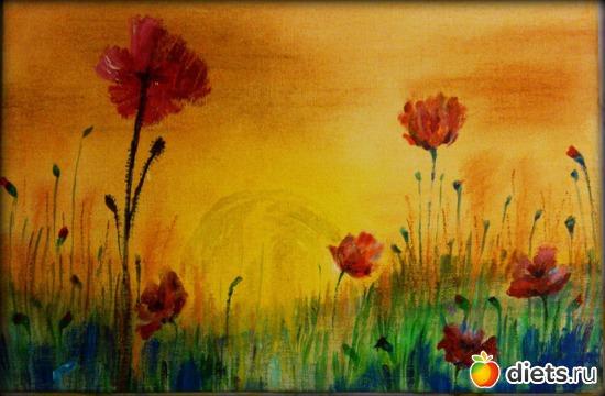 *Маки на закате* продано - возможен повтор, альбом: Вернисаж картин Дарьи Тундры  (Дарья Калита)