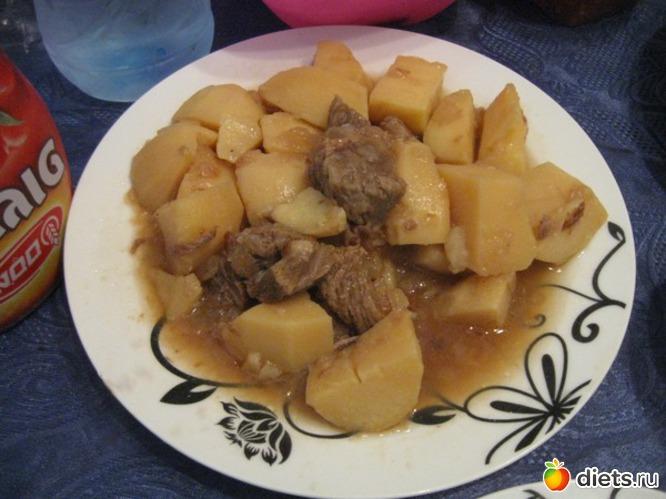 Коричневая картошка с мясом, альбом: Я готовлю.