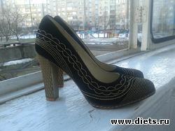 Женские замшевые туфли (новые)