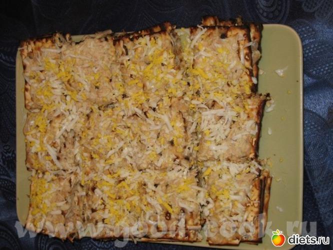 Песах.Закусочный тортик из мацы с тунцом., альбом: Я готовлю.