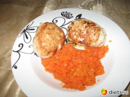 Куриные котлеты с морковным пюре (можно на диете Дюкана), альбом: Я готовлю.