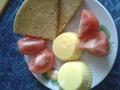 Завтрак Чередование: омлет и дю-лепешка в мультиварке :) два в одном!!