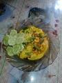 Омлет с зеленой стручковой фасолью