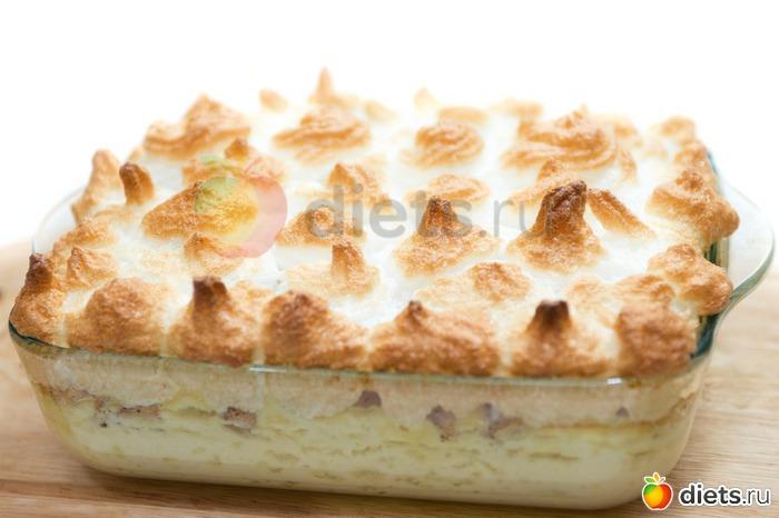 Яблочное суфле в духовке
