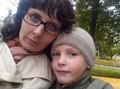 в парке со страшим сыном