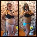Похудение до и после результат
