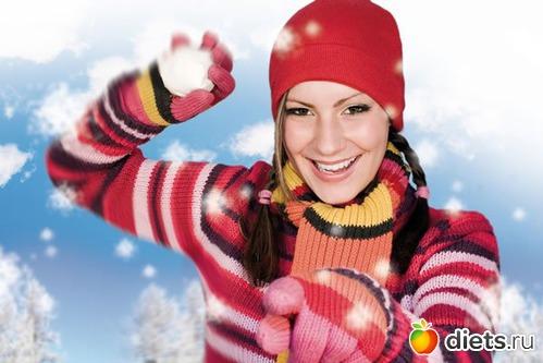 Упражнения для похудения в зимний период