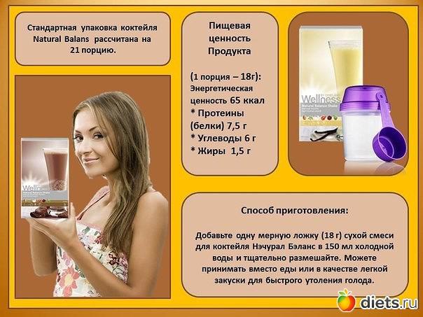 Коктейль орифлейм для похудения состав