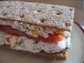 Диетический полезный бутерброд