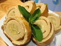 Творожный багет с банановой начинкой