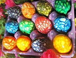 Мраморные пасхальные яйца. Мастер-класс!