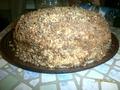 Торт на кефире со сливочным домашним сыром и шоколадно-ореховой стружкой