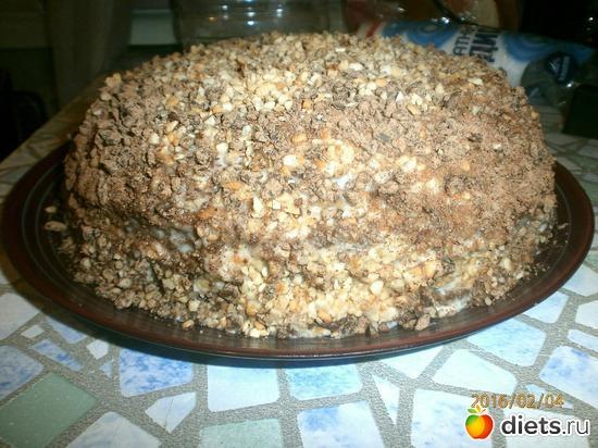 Торт на кефире со сливочным домашним сыром и шоколадно-ореховой стружкой, альбом: Вкусняши:) высоко калорийный альбом.