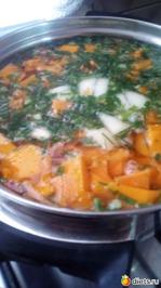 Тыквенный суп-пюре со сливками(молоком)