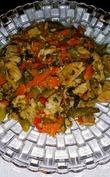 Сатэ из Индейки с овощами в Мультике или Кастрюльке.