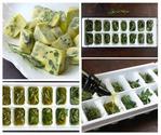 Замороженная зелень в оливковом масле.