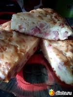 Быстрый пирог с сыром и мясом(или ветчиной, или колбасой, или...на Ваше усмотрение)