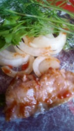 """Соленая  рыба в томатной заливке""""Пикантная""""(к картошечке молоденькой, под рюмочку холодненькой!)"""