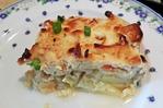 Почти мусака - рыба с картошкой, слоями запеченные в духовке