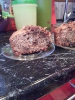 Пирог-манник с халвой с арахисом в мультиварке