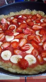 Песочный пирог с ягодами.