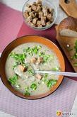 Грибной крем-суп с кабачками и гренками. Вкусная коллекция