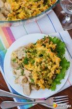 Жульен с курицей, белыми грибами и цветной капустой. Вкусная коллекция