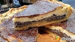 Пирог с маком и сметанным суфле.