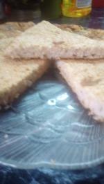 Геркулесовая лепешка с укропом и чесноком на фасолевом отваре-как самостоятельное блюдо или вместо хлеба.