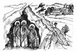 Обретение Святых Трёх Жён в пустынной горе.