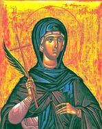 Святая мученица Матрона Солунская.