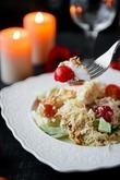 Овощной салат с куриными наггетсами. Вкусная коллекция