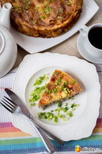 Блинный пирог с курицей и шампиньонами. Вкусная коллекция