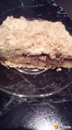 Можно в Пост! Просто насыпной пирог с  вареньем(Начинка- на Ваш вкус!)(Напоминаю рецепт!)