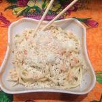 Креветочные спагетти