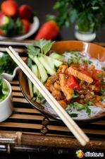 Курица терияки с овощами и фунчозой к женскому дню 8 Марта! Вкусная коллекция