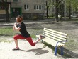 Фитнес на уличной скамейке
