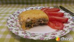 Кабачковая запеканка с фаршем, болгарским перцем под сырной корочкой.