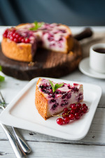 Творожный пирог с вишней. Вкусная коллекция