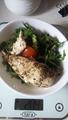 Куриное филе и салат с оливковым маслом 204гр