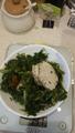 Салат с оливковым маслом и куриное филе
