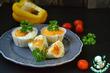 Маффины с овощами и яйцом