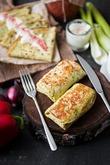Кукурузные блинчики с зеленью и куриной начинкой к широкой Масленице. Вкусная коллекция
