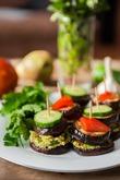 Постные канапе из овощей с авокадо. Вкусная коллекция