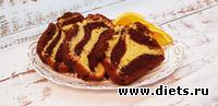 Апельсиново-шоколадный кекс, вкусный и ароматный.